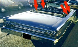 1963 MONTERY CONVERTIBLE BELTLINE   WINDOW WEATHERSTRIP KIT OUTERS ONLY ... - $97.96