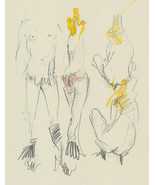 Richard O'Connell (b.1947) - 2003 Graphite Drawing, Nude Studies - $43.56