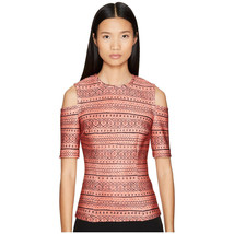 Yigal Azroul Women's Red Stripe Cold Shoulder Top, Multi, 6 - $123.75