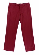 New Mens Tasso Elba Signature Chino Flat Front Red Pants 34 X 30 - $22.99