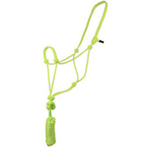 8 Ft Hilason Horse Halter Basic Poly Rope With Lead Lime U-67LM - $15.99