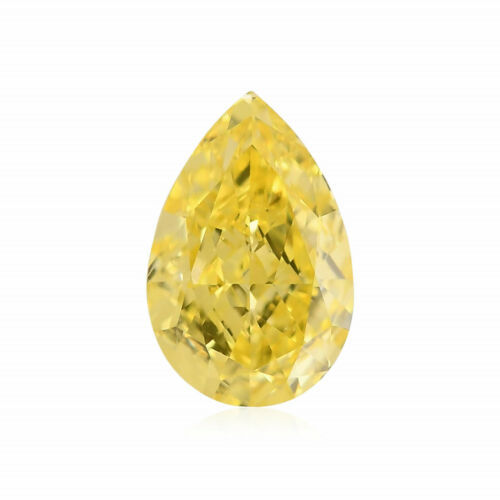 Primary image for 0.51 Carat Fancy Intense Yellow Loose Diamond Natural Color Pear Shape GIA Cert