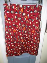 Lularoe Cassie Skirt Burgundy Tribal Triangles Size L Women's New - $26.70