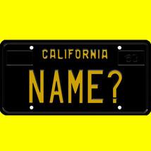 Ride-on battery powered vehicle license plate - custom California design - $8.99