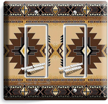 BROWN LATIN SOUTHWEST BLANKET PATTERN 2 GFCI LIGHT SWITCH WALL PLATES RO... - $12.99
