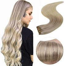 [$49.99] Easyouth Clip in Hair Extensions Color 18 Ash Blonde Fading to 22 Blond