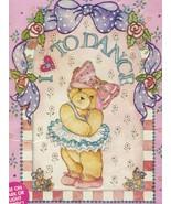 1992 Pocket Full of Dreams Teddy Ballerina Bear & Garden Bear Iron On Tr... - $12.99