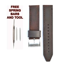 Fossil CH2835 22mm Brown Leather Watch Strap Band FSL109 - $28.62