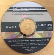 Sony Thermal Digital Photo Printer Software CD (Multiple Models) - $6.49