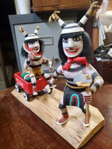 Navajo Kachina Double Watermelon Clown Kachina Handcrafted and Signed on base image 5