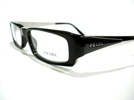 Prada Eyeglasses frames VPR 04L Black Silver 1AB-1O1 Authentic 50-16-135 - $88.78