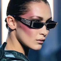 ROYAL GIRL Vintage Square Sunglasses Women Small Imitation Diamond Eyewe... - $44.00