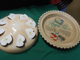 Great APPLE PIE Recipe Plate with LID...deep dish - $24.34