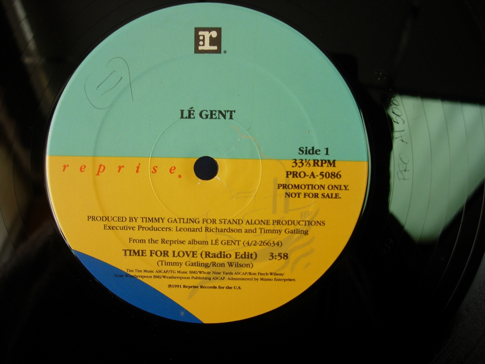 Le Gent - Time For Love - 3 Mixes - Reprise Records PRO-A-5086