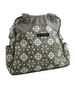 Petunia Pickle Bottom Sashay Satchel Diaper Bag Backpack Floral Lime Gra... - $29.74