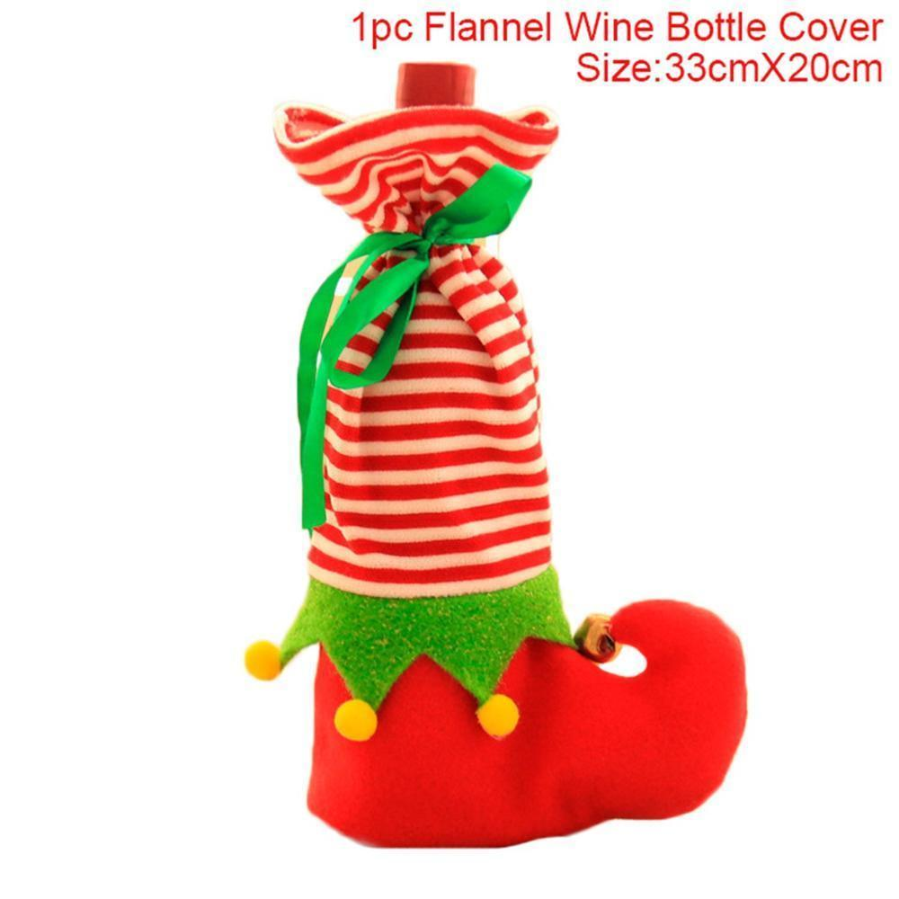 Christmas Decorations for Home Santa Claus Wine Bottle Cover Snowman