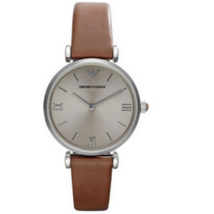 Emporio Armani AR1679 Classic Retro Brown Leather Ladies Watch - $201.99