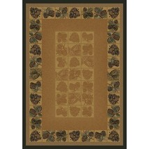 """4x6 (3'11"""" x 5'3"""") Lodge Pinecones Cabin Forest Leaves Pine Area Rug - $99.00"""