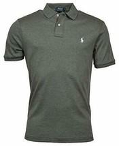 Polo Ralph Lauren FORTRESS GREY HEATHER/WHITE PONY Logo Polo Shirt, US L... - $28.50