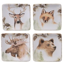 Mountain Retreat 4-Piece Country/Cottage Multi-Colored Ceramic 6 in. Can... - $43.02
