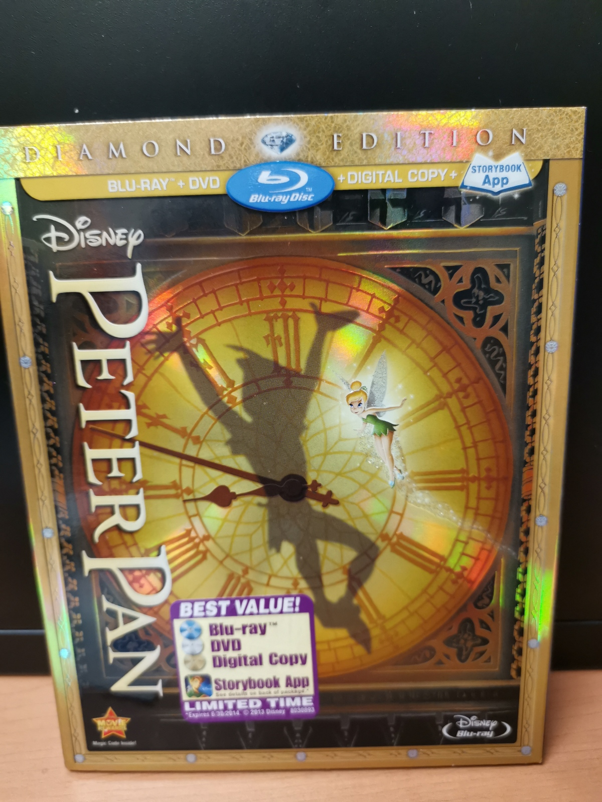 Primary image for Walt Disney Diamond Edition -Peter Pan DVD + Blu Ray + Digital Copy, Brand New