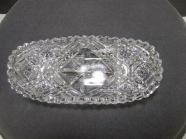 Cut glass ABP Signed Libbey small tray Antique  - $45.50