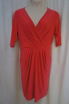 Ralph Lauren Dress Sz 10 Grapefruit Pink Jersey Knit Career Cocktail Wear   - $34.09