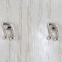 ORECCHINI ORO GIALLO O BIANCO 750 18K, NOTA MUSICALE, LUNGHEZZA 0.7 CM image 3