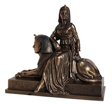 Unicorn Studios WU75693V4 Cleopatra Sitting on a Sphinx Egyptian Statue - $89.32