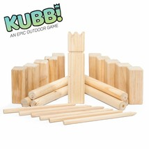 Play Platoon Premium Hardwood Kubb Game Set - Fun Outdoor Lawn Game for ... - $24.30