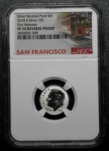 2018S Silver Reverse Proof Roosevelt Dime NGC PF70 First Release Trolley SKU C59