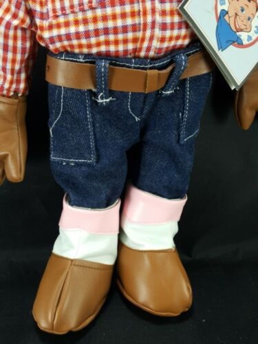 "Howdy Doody Cowboy Cloth Stuffed Plush Rag Doll Large 18""  Applause With Tags"