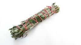 One 8inch White Black Sage Mugwort Smudge Stick Shamans Curanderas Reiki... - $9.34