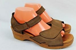 Dansko Women's Brown Leather Wedge Sandals Slingback Sonnett Sz EU 41/US 10.5 - $39.59