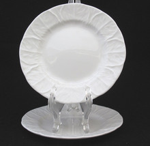 Wedgwood Countryware Bread and Butter Plates White Embossed Leaves Set o... - $28.79