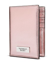VICTORIA'S SECRET PINK METALLIC PASSPORT COVER CASE TRAVEL WALLET  - $69.99