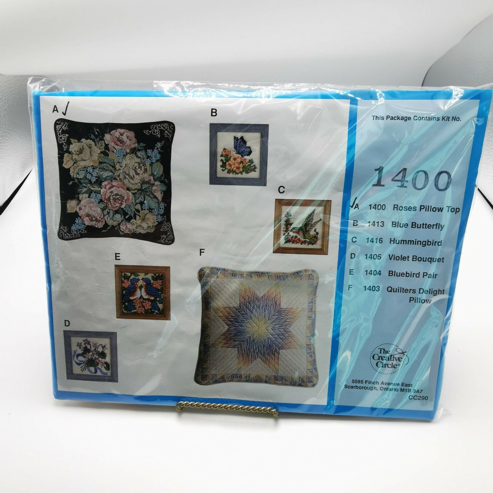 Primary image for Creative Circle 1400 Roses Pillow Top Kit Sealed