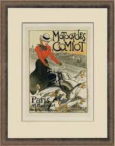 """1899 original litho """"Motocycles Comiot"""" Steinlen, Maîtres de l'Affiche P... - $1,850.00"""