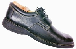Johnston Murphy Men's Black Sheepskin Pebbled Leather Oxford Dress Shoes... - $35.09