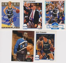 Orlando Magic Signed Lot of (5) Trading Cards - Skiles, Catledge, Bowie - $9.99