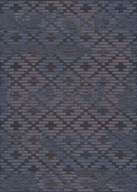 Symphony Area Rug (5'2'' X 7'6'') Design 27010 Anthracite Grey Blue Trellis Moro - $69.00
