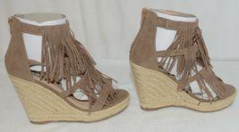 BF Betani Shiloh 8 Stone Fringe Wedge Heel Sandals Size 6 image 4