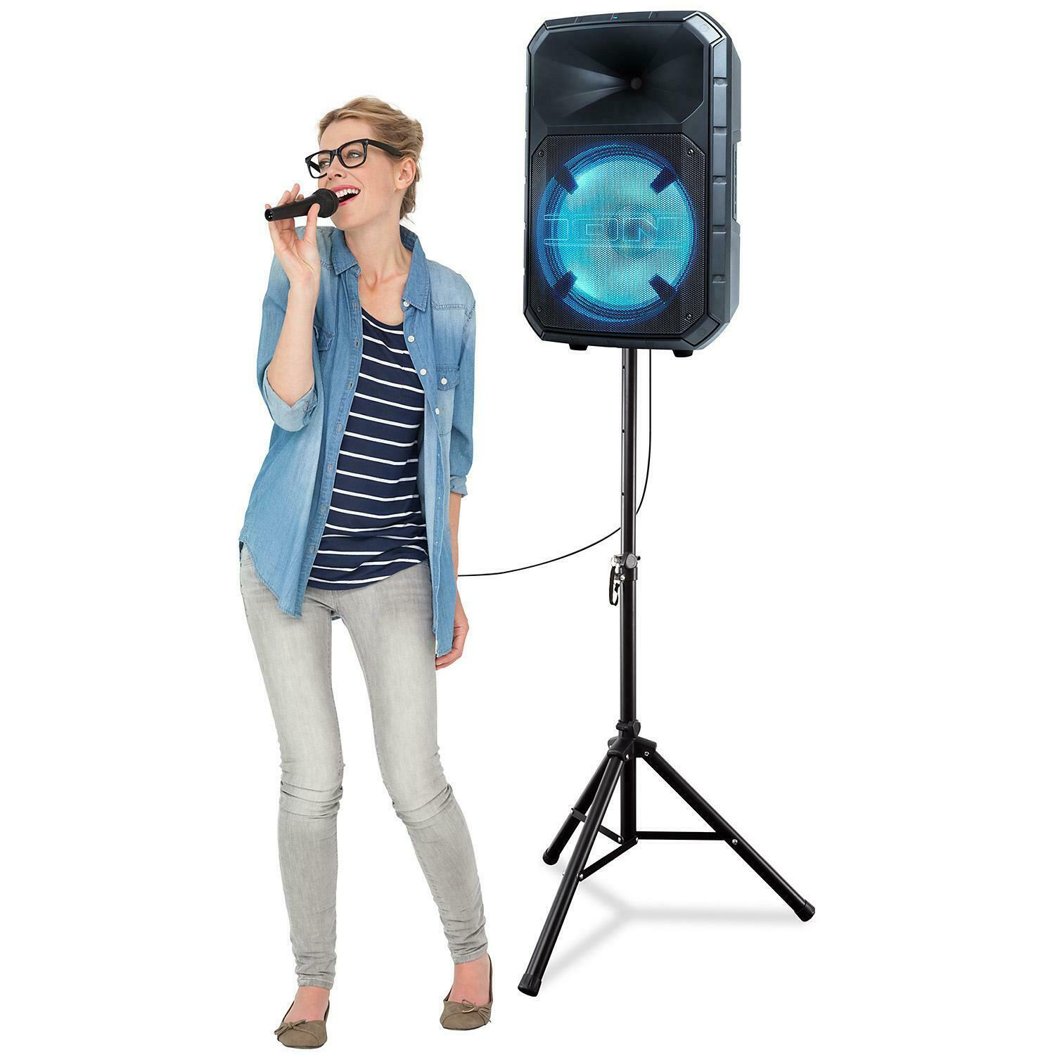 Total PA System Bluetooth Wireless Portable Speaker LED Lights ION Audio Plus image 5