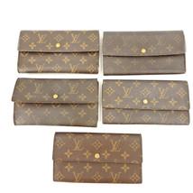 Auth LOUIS VUITTON Monogram 5P Set Sarah & International long Bifold Wallet - $308.00