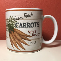 Sakura David Carter Brown Coffe Mug Farmstand Vegetables - Carrots - $6.95