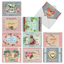 Assortment of Blank Note Cards with Envelopes Boxed Set, 'Holy Notes' Gr... - $14.36