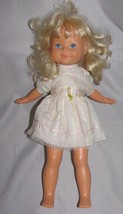 VINTAGE 1984 FISHER PRICE 216 MY FRIEND MANDY BLONDE GIRL DOLL TOY W/ DRESS - $31.67