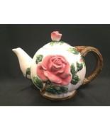 Fitz & Floyd Victorian Rose 50oz. Teapot Vintage 1995 Pink Roses - $29.99
