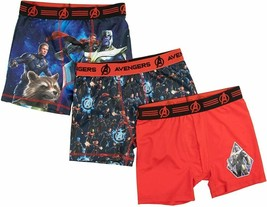 AVENGERS END GAME THANOS 3-Pack Boxer Briefs Underwear Boys Sz 4, 6, 8 o... - $12.75