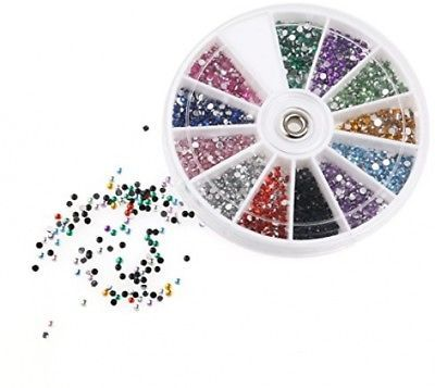 RUIMIO 30 Nail Tape, 15 Nail Art Brush, 12 Colors Nail Rhinestones, 3D Nail Art
